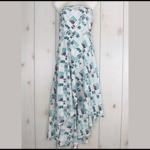 White House Black Market Strapless High Low Dress